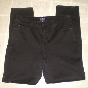 NYDJ Black Stretch Leggings Jeans sz 14